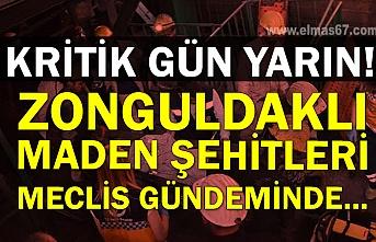 Kritik gün yarın! Zonguldaklı maden şehitleri meclis gündeminde...