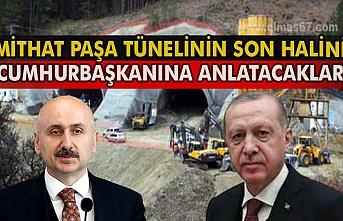 Mithat Paşa tünelinin son halini Cumhurbaşkanına anlatacaklar