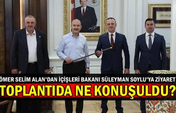 Ömer Selim Alan'dan İçişleri bakanı Süleyman Soylu'ya ziyaret