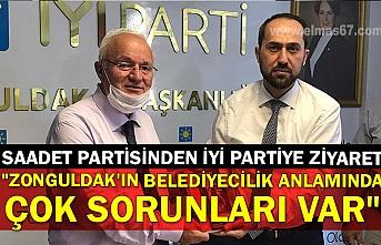 """Saadet Partisinden İyi Partiye ziyaret: """"Zonguldak'ın belediyecilik anlamında çok sorunları var"""""""