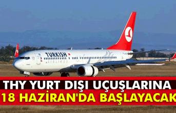 THY yurt dışı uçuşlarına 18 Haziran'da başlayacak