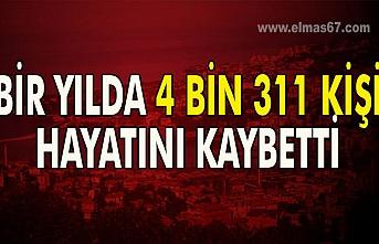 Türkiye İstatistik Kurumu istatistiklerine göre Zonguldak'ta 2019 yılında 4 bin 311 kişi hayatını kaybetti.