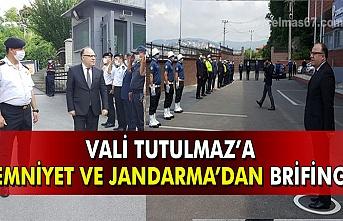 Vali Tutulmaz'a Emniyet ve Jandarma'dan brifing.