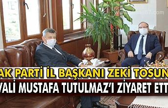 Zeki Tosun Vali Mustafa Tutulmaz'ı ziyaret etti