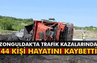 Zonguldak'ta trafik kazalarında 44 kişi hayatını kaybetti