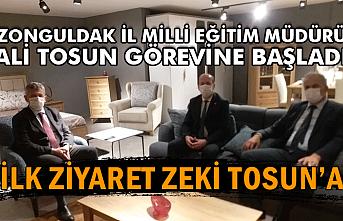 Zonguldak İl Milli Eğitim Müdürü Ali Tosun görevine başladı