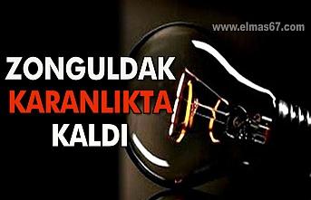Zonguldak karanlıkta kaldı