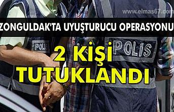 Zonguldak'ta uyuşturucu operasyonunda 2 kişi tutuklandı.