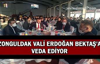 Zonguldak Vali Erdoğan Bektaş'a veda ediyor