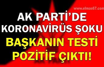 Ak Parti'de Koronavirüs şoku, Başkanın testi pozitif çıktı!