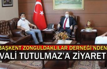 Başkent Zonguldaklılar Derneği'nden Vali Tutulmaz'a Ziyaret
