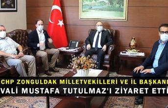 CHP Zonguldak Milletvekilleri ve İl Başkanı Valisi Mustafa Tutulmaz'ı ziyaret etti