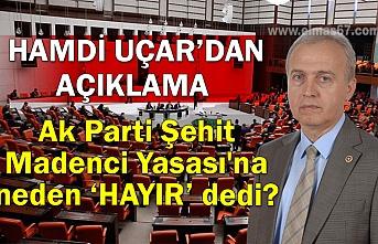 Hamdi Uçar'dan açıklama...  Ak Parti Şehit Madenci Yasası'na neden hayır dedi?