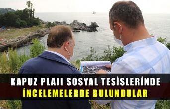 Kapuz Plajı Sosyal Tesislerinde incelemelerde bulundular