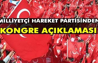 Milliyetçi hareket partisinden kongre açıklaması:
