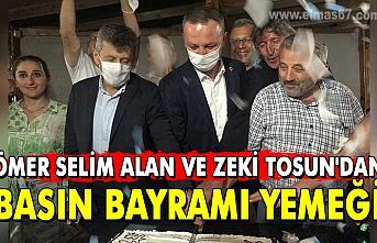 Ömer Selim Alan ve Zeki Tosun'dan Basın Bayramı yemeği