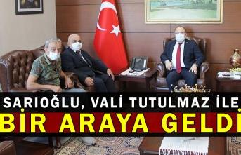 Sarıoğlu, Vali Tutulmaz ile bir araya geldi