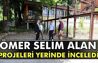 Selim Alan farklı bölgelerde yapılması planlanan projelere  yerinde incelemelerde bulundu.