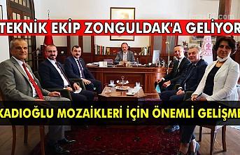 Teknik ekip Zonguldak'a geliyor Kadıoğlu mozaikleri için önemli gelişme