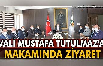 Vali Mustafa Tutulmaz'a  makamında ziyaret