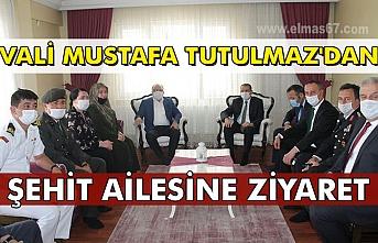 Vali Mustafa Tutulmaz'dan Şehit ailesine ziyaret