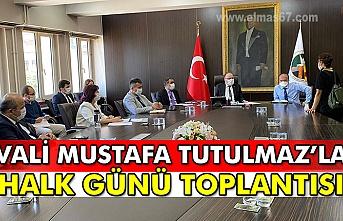 Vali Mustafa Tutulmaz'la halk günü...