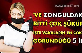 'Ve Zonguldak' Bitti çok şükür İşte vakaların en çok göründüğü 5 il