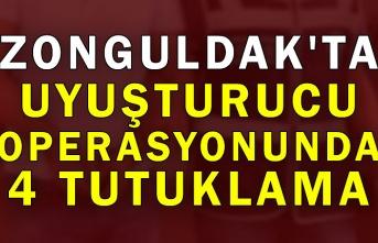 Zonguldak'ta uyuşturucu operasyonunda 4 tutuklama