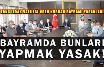 Zonguldak Valiliği'nden Kurban Bayramı Yasakları. Bayramda Bunları Yapmak Yasak!