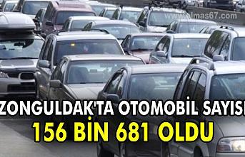 Zonguldak'ta motorlu kara taşıtları 156 bin 681 oldu