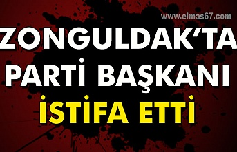 Zonguldak'ta Parti başkanı istifa etti.
