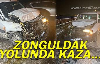 Zonguldak yolunda kaza...