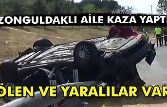Zonguldaklı aile kaza yaptı. Ölen ve yaralılar var