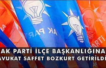 Ak Parti İlçe Başkanlığına Avukat Saffet Bozkurt Getirildi
