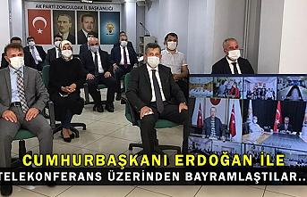 Cumhurbaşkanı Erdoğan ile telekonferans üzerinden bayramlaştılar...