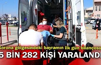 Korona gölgesindeki bayramın ilk gün bilançosu: 5 bin 282 kişi yaralandı