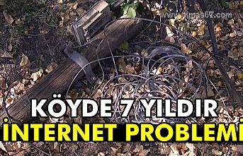Köyde 7 yıldır internet problemi