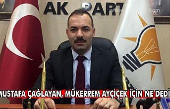 Mustafa Çağlayan, Mükerrem Ayçiçek için ne dedi?