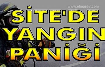 Site'de yangın paniği