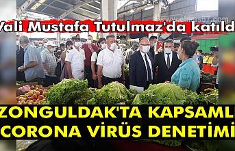 Vali Mustafa Tutulmaz'da katıldı. Zonguldak'ta kapsamlı corona virüs denetimi