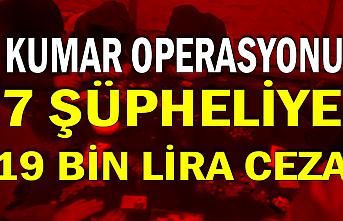 Zonguldak'ta kumar operasyonu: 7 şüpheliye 19 bin lira ceza