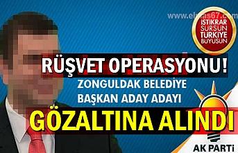 Ak Partili Başkan Adayı, yapılan operasyonda gözaltına alındı