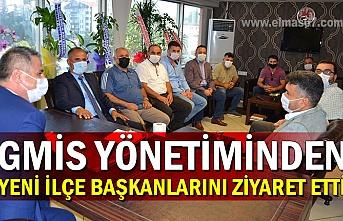 GMİS yönetiminden yeni ilçe başkanlarını ziyaret etti