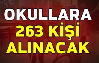 Okullara 263 kişi alınacak