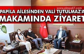 Papila Ailesinden Vali Mustafa Tutulmaz'a makamında ziyaret