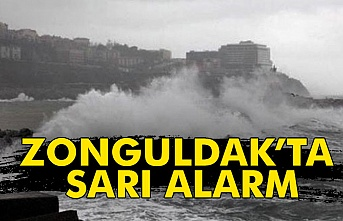 Zonguldak'ta sarı alarm