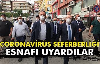 Zonguldak'ta 'Covid-19 tedbirleri denetimi yapıldı.