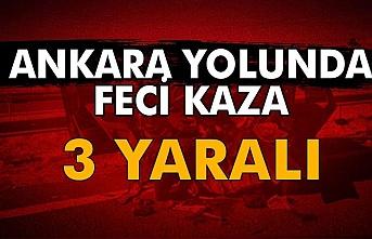 Ankara Yolunda Feci Kaza
