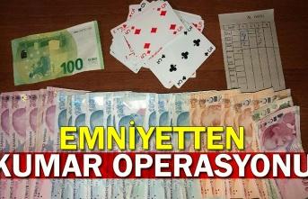 Emniyetten kumar operasyonu