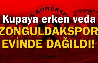 Zonguldakspor evinde dağıldı! Kupaya erken veda